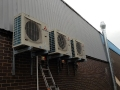 Commercial air con installation external units